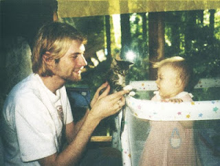 Kurt Cobain Baby Frances Kitten Happy Nirvana