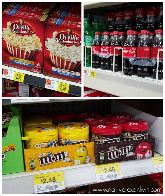 Coca-Cola, Orville Redenbacher popcorn, M&M'S® at Walmart