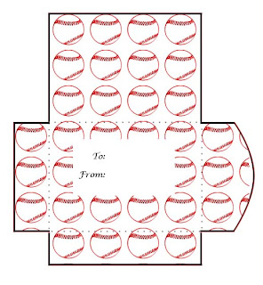 Baseball Print and Cut Gift Card Envelope