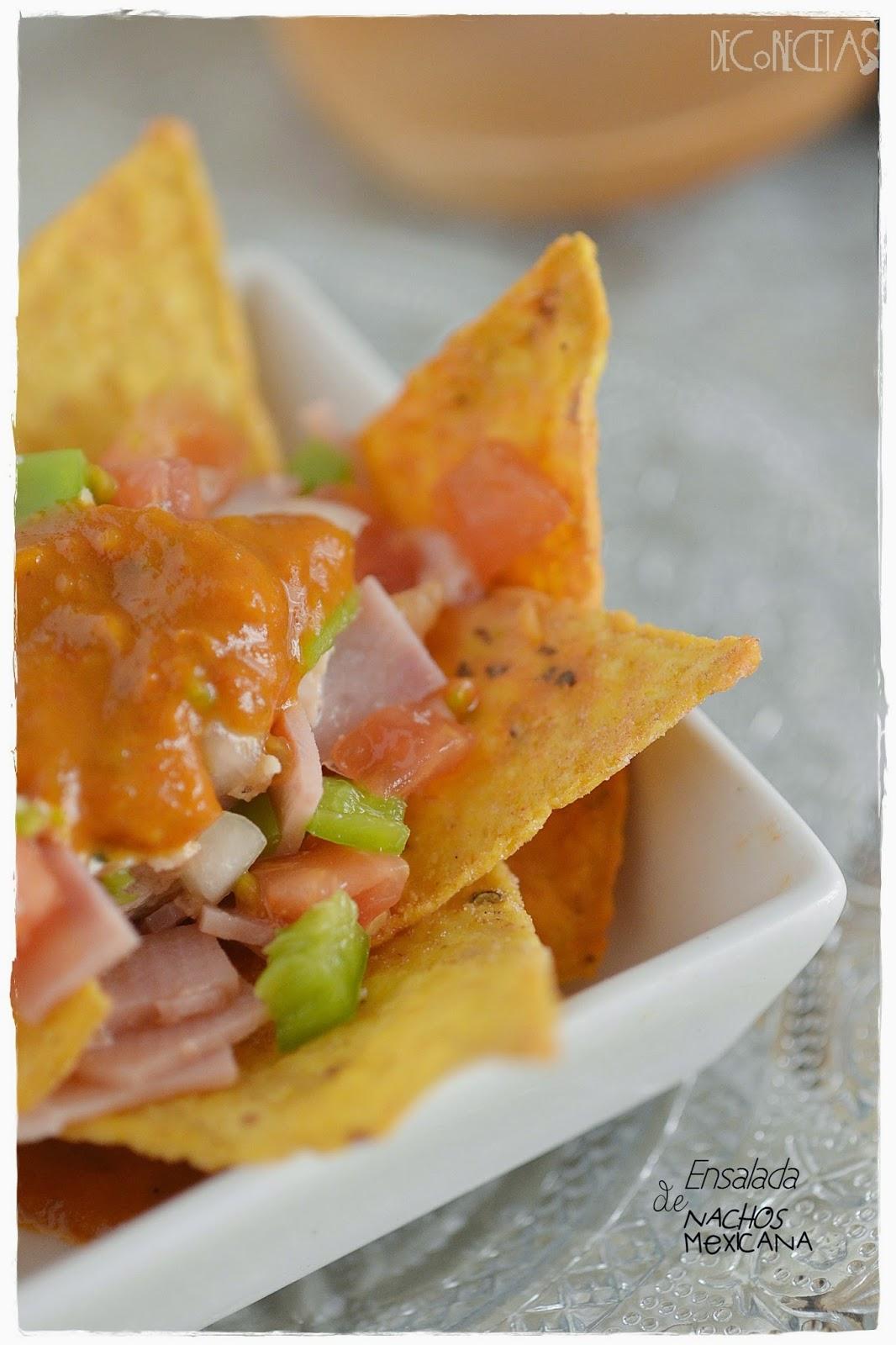 ensalada de nachos mexicana