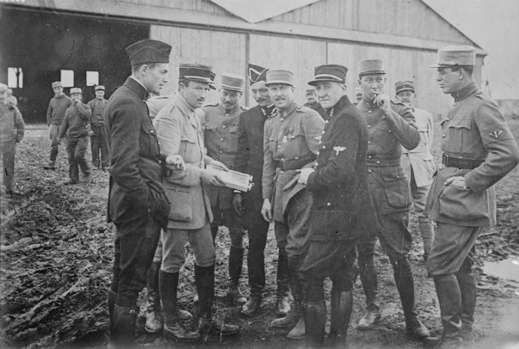 A Vintage Nerd, The Real Flyboys of WWI, WWI History, WWI Flyboys, Vintage Blog, War History Blog, Lafayette Escadrille