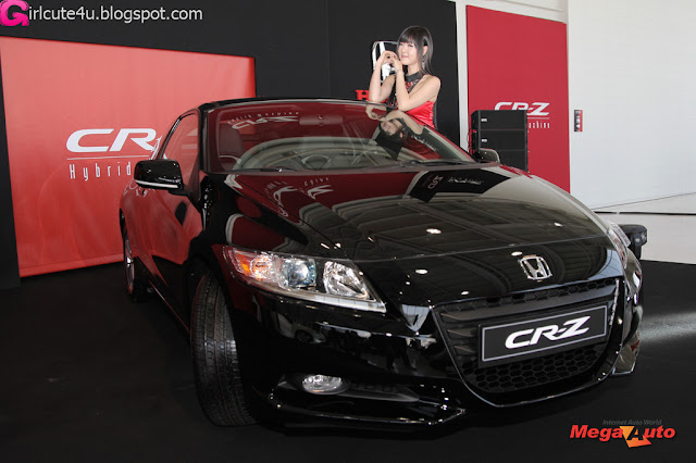 6 Hwang Mi Hee with New Honda's Hybrid CR-Z-very cute asian girl-girlcute4u.blogspot.com