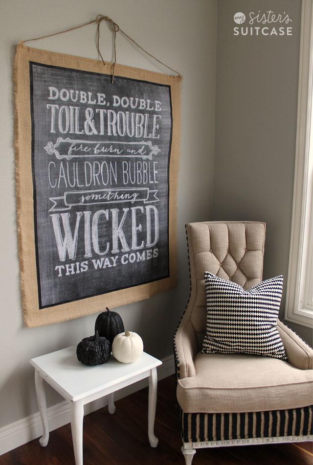 Best Halloween Burlap Wall Hanging