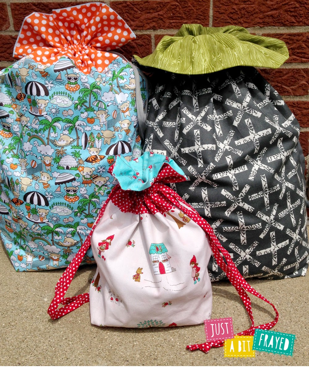 Lined Drawstring Bags by Just a Bit Frayed