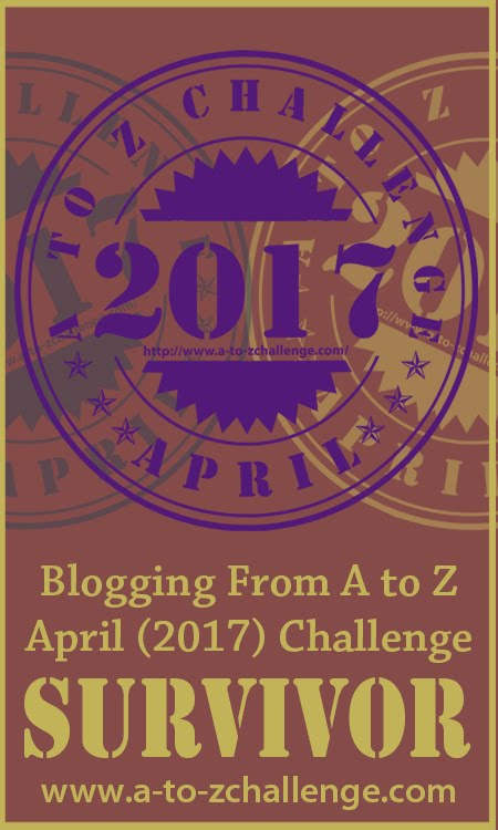 2017 A to Z Challenge Survivor
