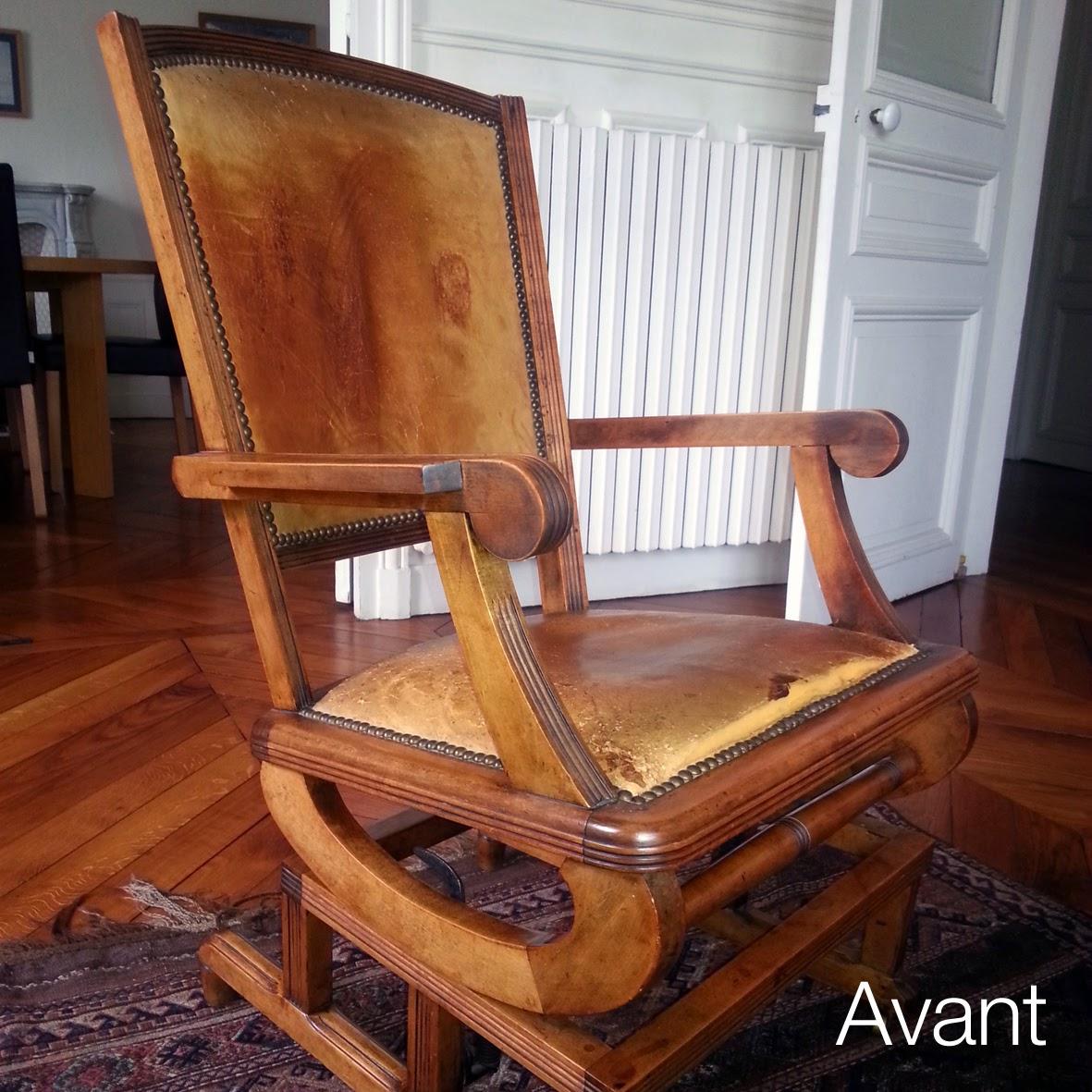 avant apr s fauteuil am ricain atelier velvet artisan tapissier paris 10e. Black Bedroom Furniture Sets. Home Design Ideas