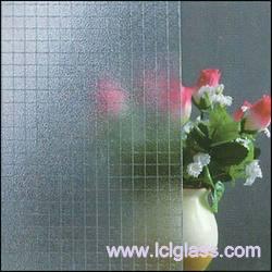 Kính lưới thép trang trí mờ một mặt 6.5mm