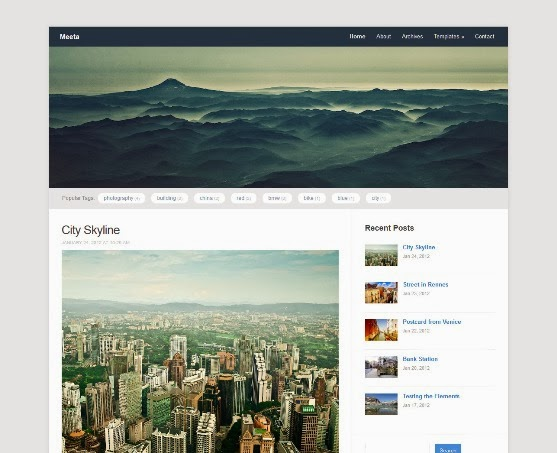 Meeta Simple Blogging Theme