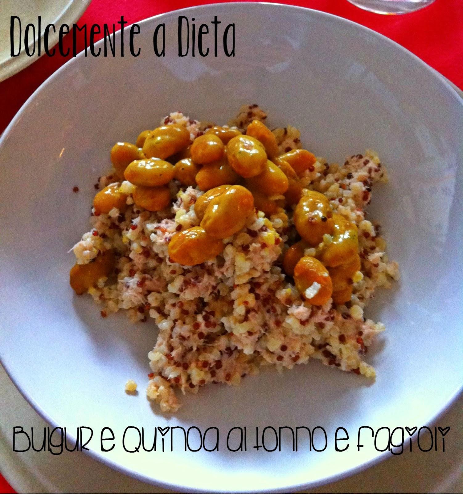 ricetta salata: bulgur e quinoa al tonno e fagioli