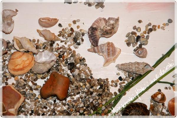 Rama do obrazu ze styropianu, plaża, obraz 3D