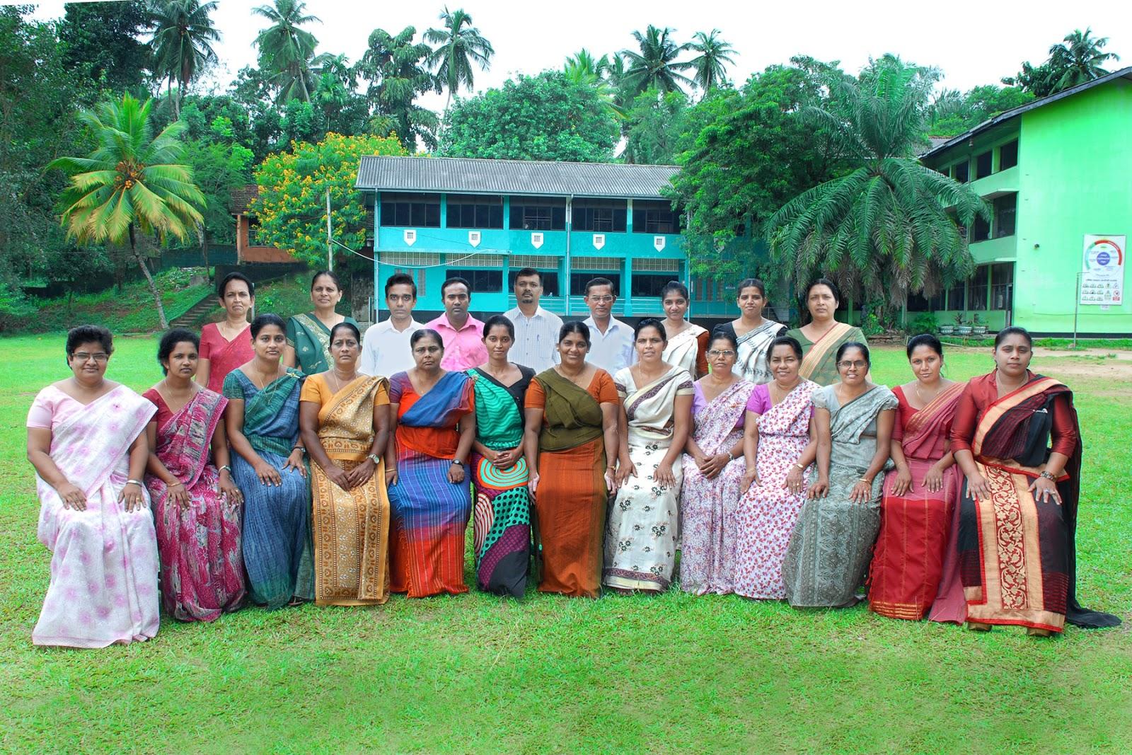 science society of kegalu balika vidyalaya staff