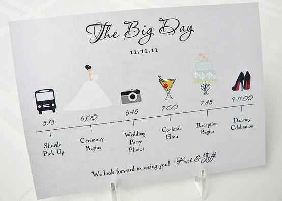 свадебное приглашение с расписанием и инфографикой