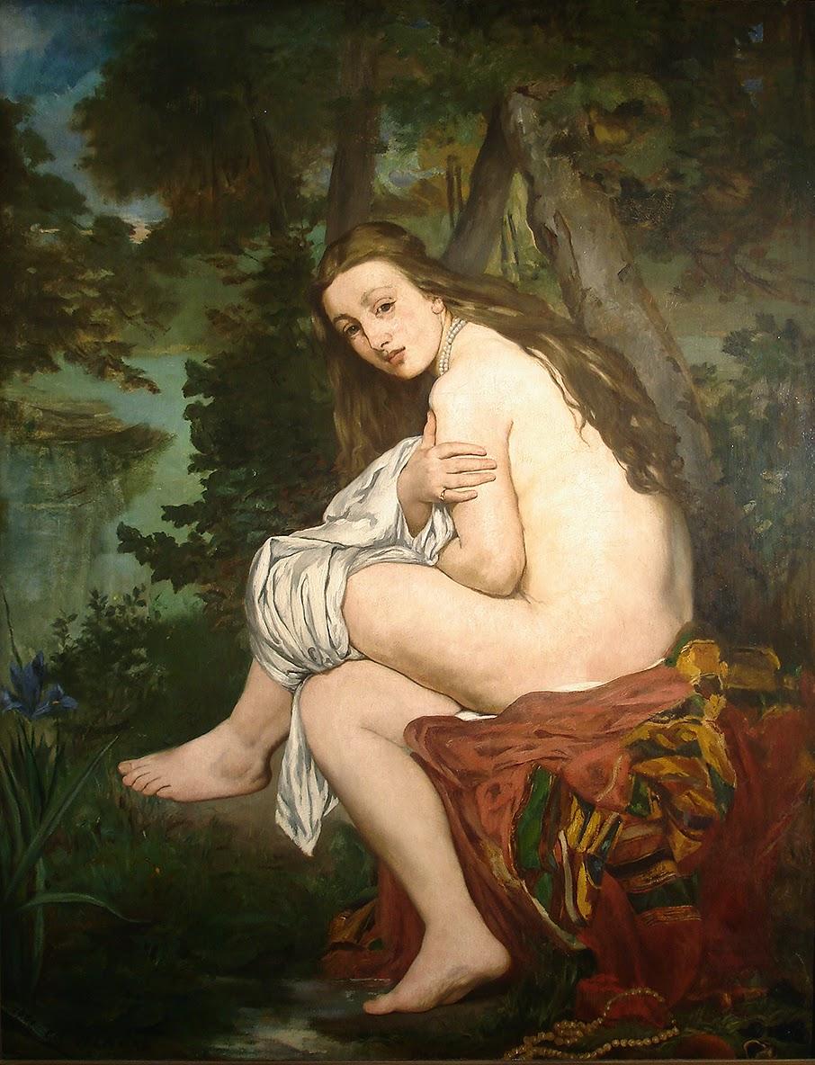 Édouard Manet, La ninfa sorprendida (retrato de Suzanne Leenhoff, 1861), Museo Nacional de Bellas Artes, Buenos Aires