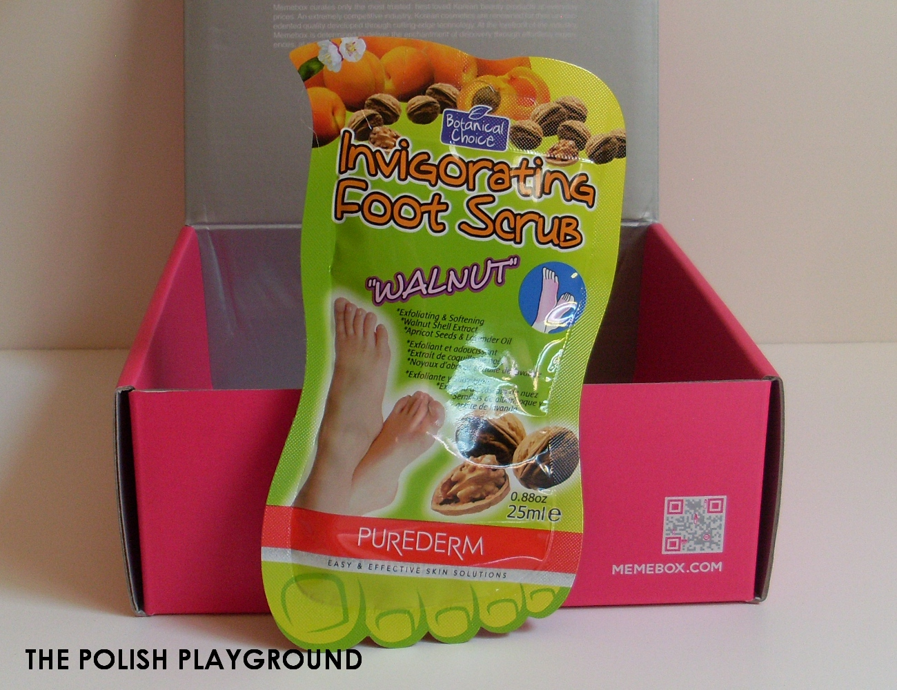 Memebox Special #6 Whole Grain Unboxing - Purederm Invigorating Foot Scrub Walnut