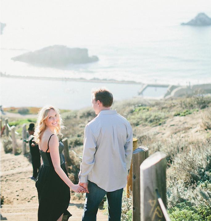 engagement photos, san francisco, sutro baths