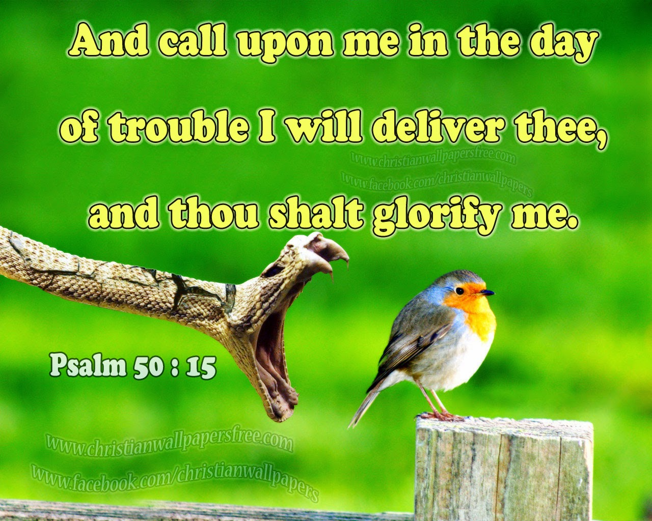 Download hd christmas new year 2018 bible verse greetings card and call upon me in the day of trouble i will deliver thee and thou shalt glorify me kristyandbryce Image collections