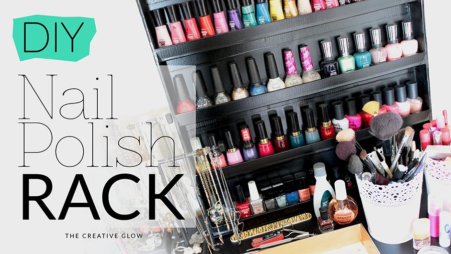 DIY Nail Polish Rack - Cheap, Easy, No Power Tools Needed! | The ...