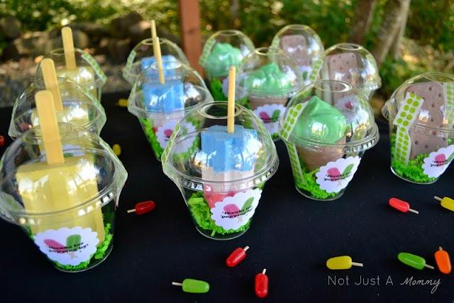 Pop Up Popsicle Party chalk party favors