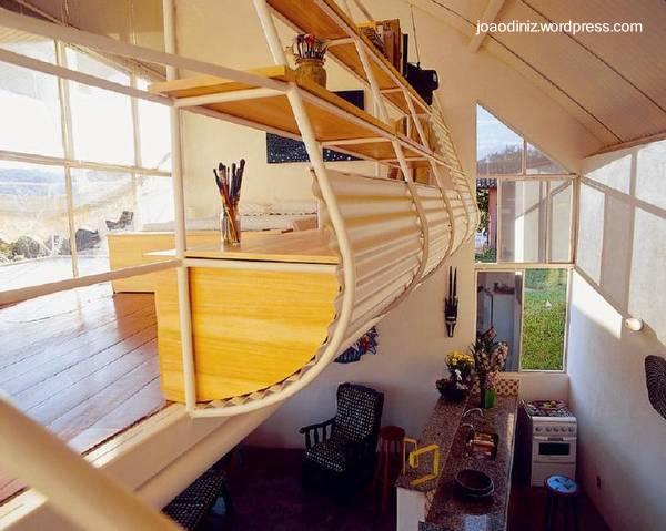 Arquitectura de Casas: Cabaña pequeña Tropical, bioclimática y ...