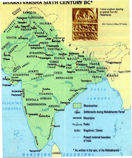 Map Of india during Mahabharat times