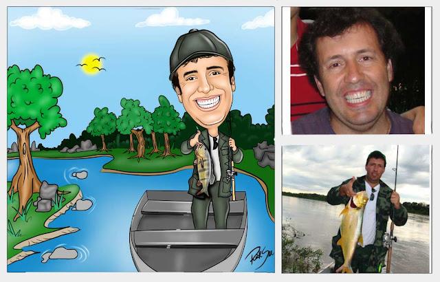 pescando no rio da amazonia
