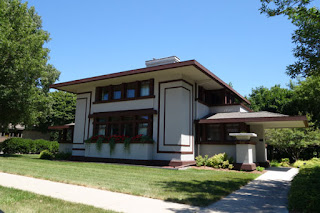 Frank Lloyed Wright designed house Mason City Iowa