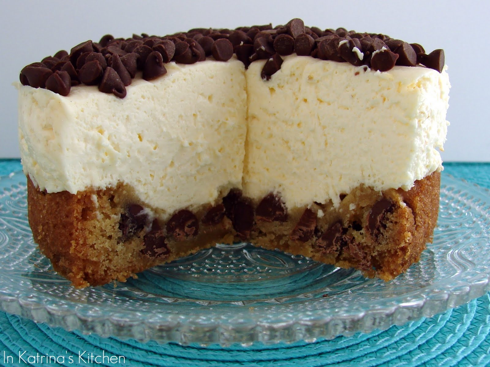 Chocolate Chip Cookie Cheesecake Recipe | In Katrina's Kitchen