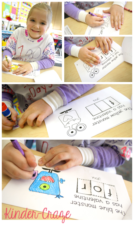cut and paste emergent sight word readers