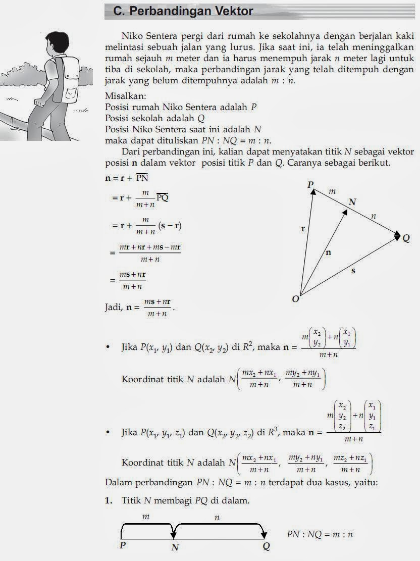 Matematika Di Sma Perbandingan Vektor