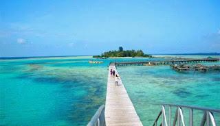 jembatan di pulau harapan