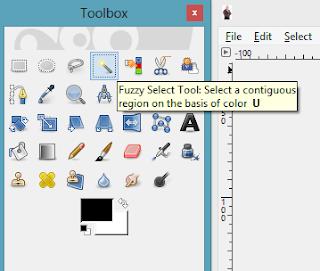 Jadi, kita perlu gunakan ' Paths Tool ' seperti imej di bawah.