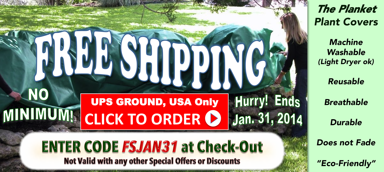 The Planket Frost Cover for Plants and Gardens - FREE SHIPPING