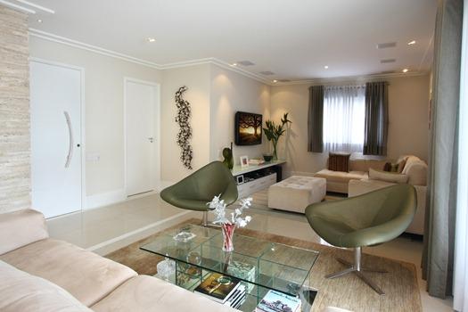 Construindo minha casa clean d vida de decora o sala de for Salas en l pequenas