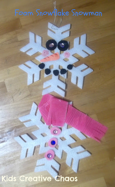 Make a Snowman Winter Craft Pre School Activity Preschool Snowflake