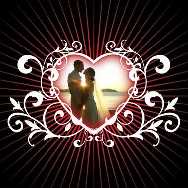 marco de foto corazón amor