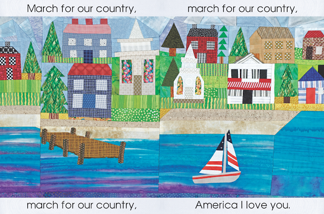 "Quilt Illustration for ""Red, White and Blue"" by Debbie Clement"