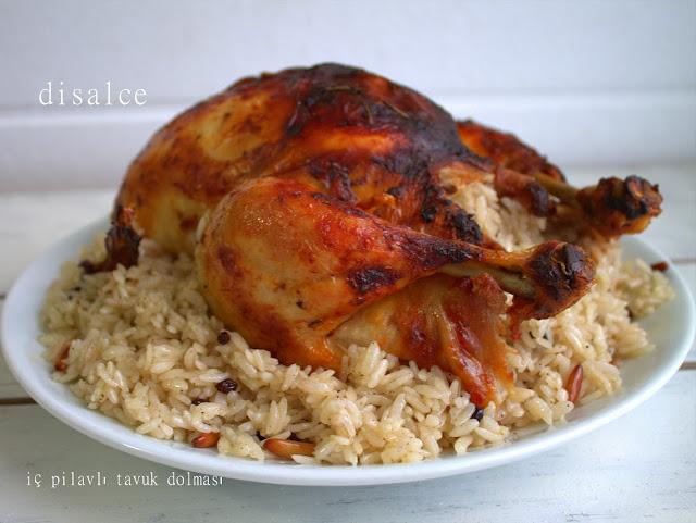 iç pilavlı tavuk dolması