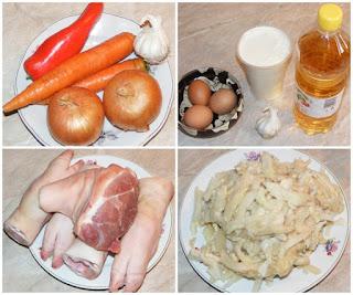 ingrediente pentru ciorba de burta ardeleneasca din burta si rasol de vita si picioare de porc dreasa cu smantana otet si usturoi, retete culinare, retete, cum se face ciorba de burta traditionala romaneasca din ardeal,