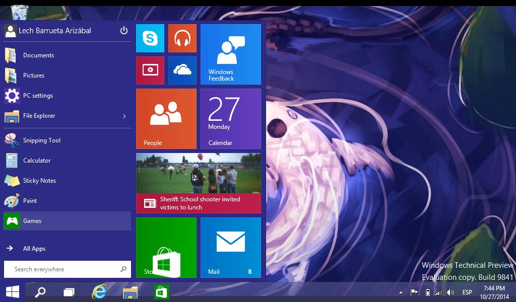Windows 10 Technical Preview instalado en una netbook