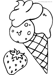 Easy Summer Ice Cream Coloring Pages 6