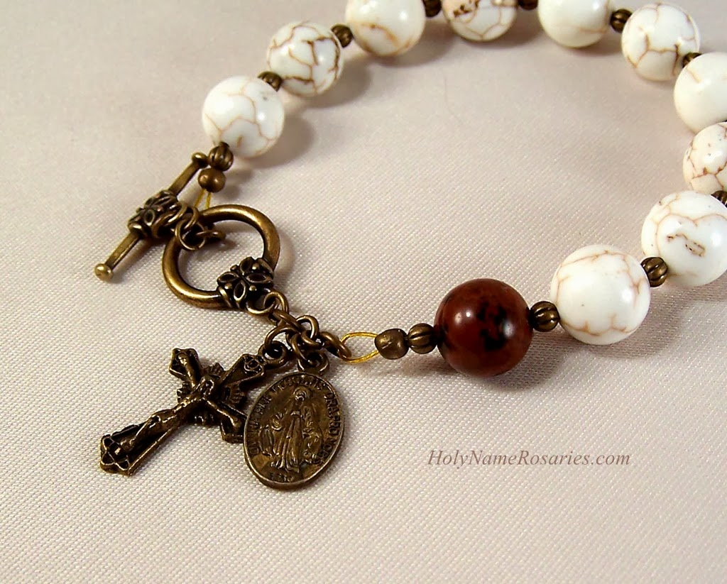 strengthen your brethren rosary bracelet with bronze