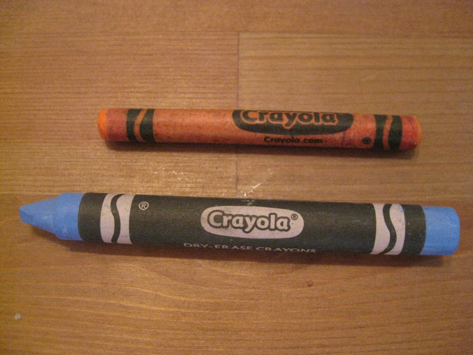 here are a few pictures of the dry erase crayons in action