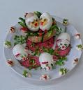 Talerz z jajem