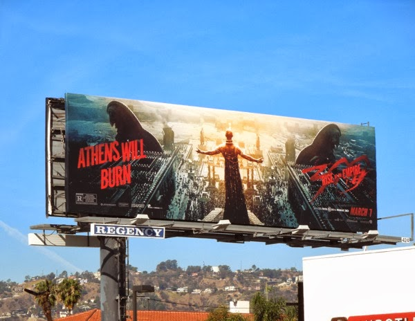300 Rise of an Empire Athens will burn movie billboard