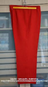 (44) Enero/14: Pantalón Lino rojo