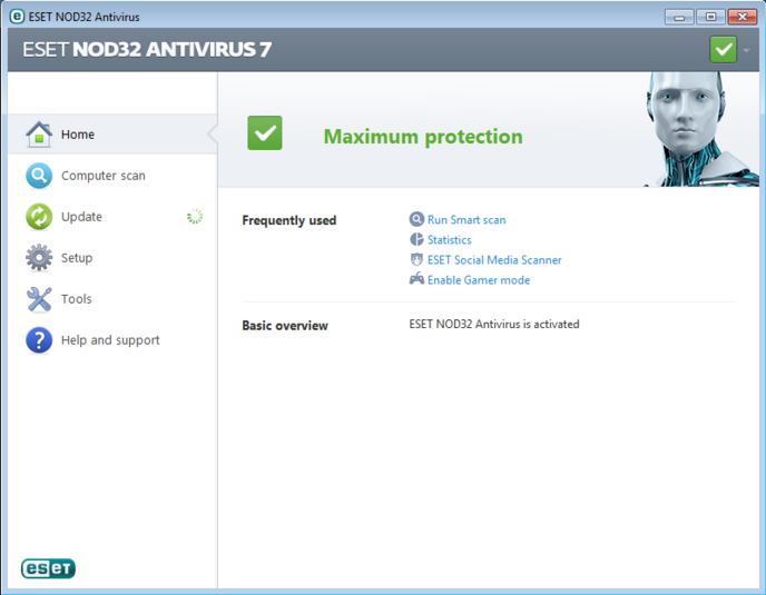 Download Gratis Antivirus Eset Smart Security v7.0 Full Version
