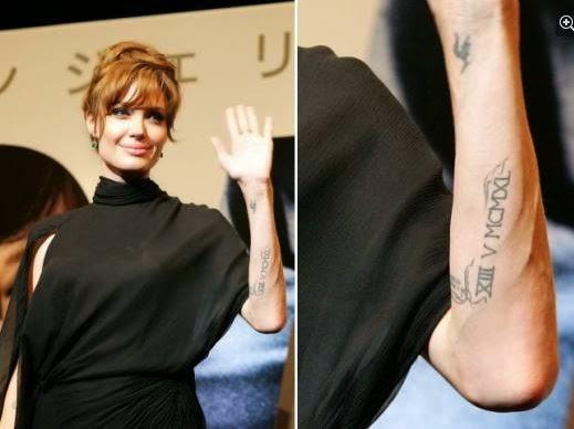 Angelina Jolie Voight Tattoos Polski Blog