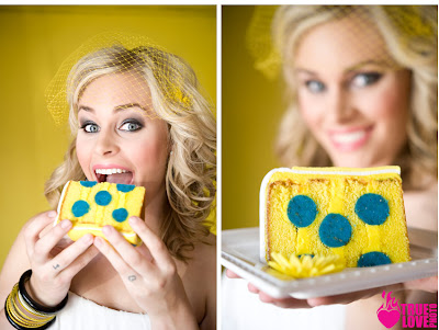 Sweet Cakes by Rebecca - polka dot cake slice