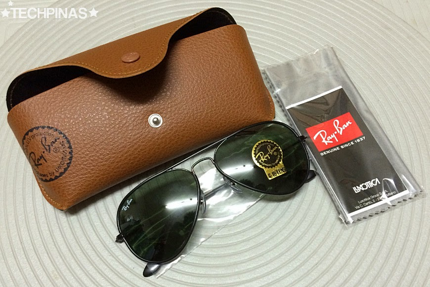 ray ban aviator brown case fake