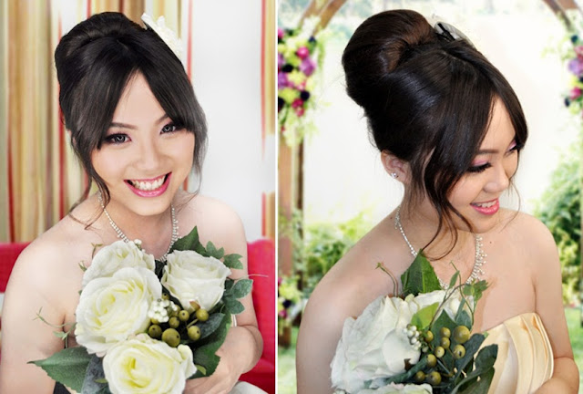 chinese with western eyes, great bridal makeup
